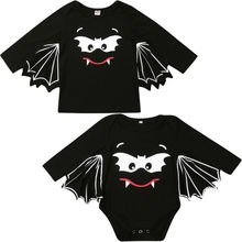 Brother Sister Matching Bat Shirt And Romper Fancy Outfits