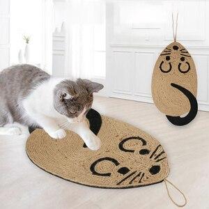 Sisal gato scratcher placa arranhando pós esteira de brinquedo macio cama esteira garras cuidado brinquedos do animal estimação arranhando pós brinquedos