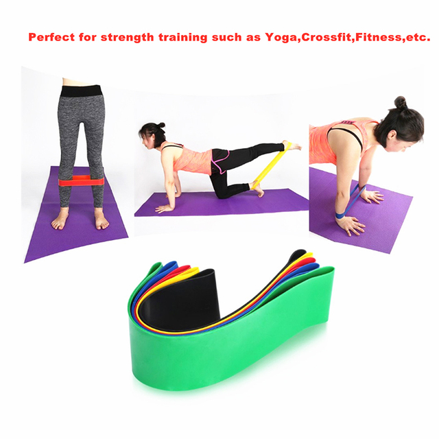 Elastic Fitness Bands Resistance Bands for Bodybuilding Fitness Exercise Gym Sport Strength Training Pilates Workout Equipment 4