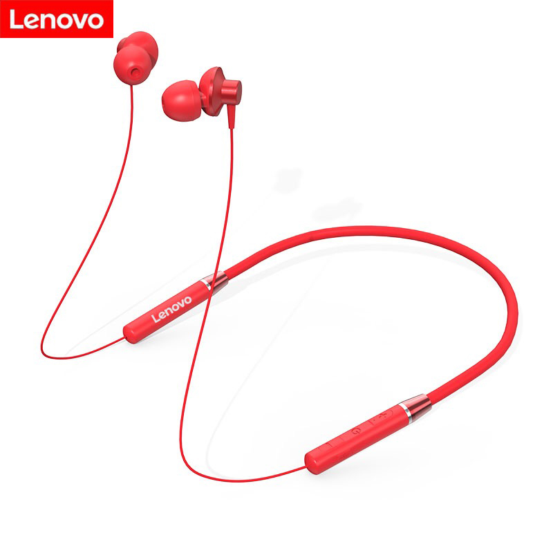 Original Lenovo HE05 Bluetooth Headset Neckband Sports Earplugs Noise Reduction with Microphone Waterproof Wports Earphone