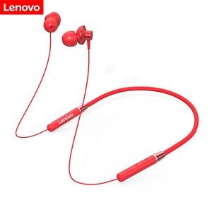 Original Lenovo HE05 Bluetooth Headset Neckband Sports Earplugs Noise Reduction with Microphone Waterproof Wports Earphone