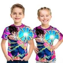 2019 Summer Kids Dragon Ball Z T Shirt 3D Print Anime Goku Vegeta T-shirts Dragonball Super Saiyan Children Clothes