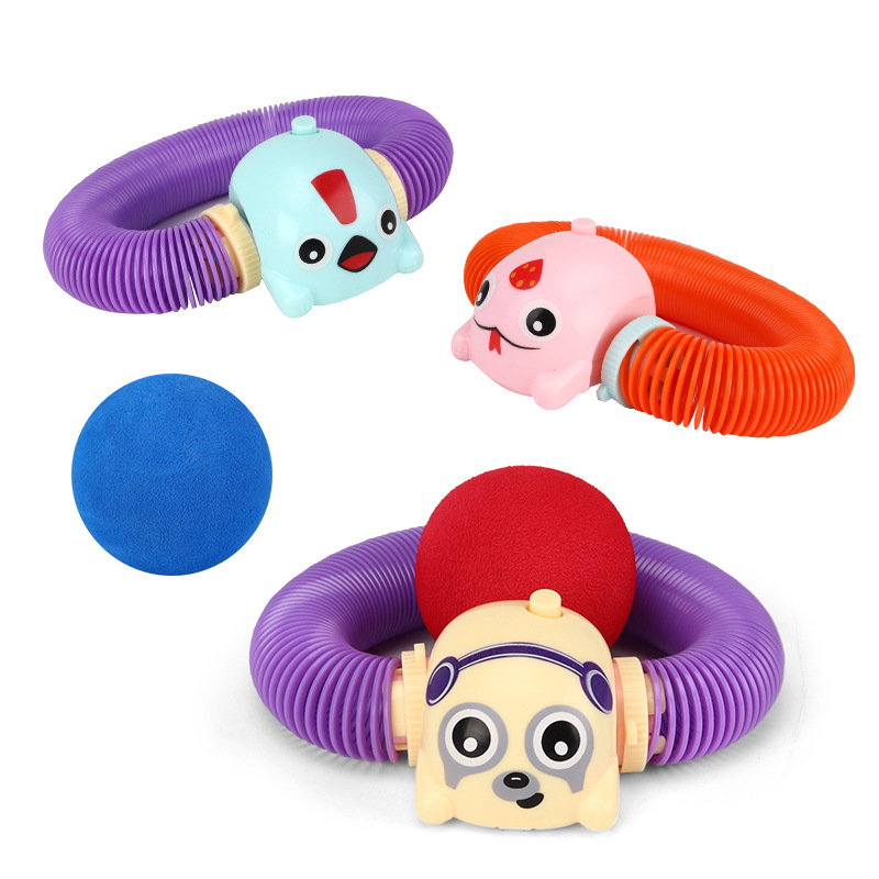 Zoops Twisted Telescopic Electric Stunt Crawling Spring Doll Cute Pet Bracelets Rainbow Ring Novelty CHILDREN'S Toy