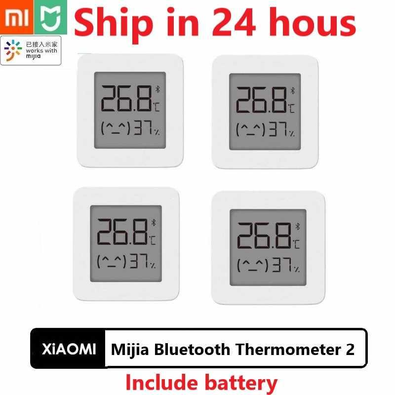 新xiaomi mijia bluetooth温度計 2 ワイヤレススマート電気デジタル湿度計温度計で動作mijiaアプリ