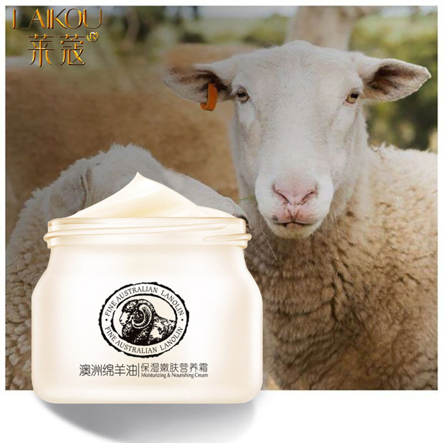 LAIKOU Sheep Oil Face Cream Moisturizing Cream Anti Aging Anti Wrinkle Whitening Day Serum For Face Skin Care Serum Bio Oil 90g