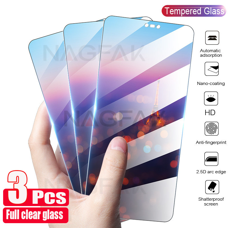 3Pcs Tempered Glass For Huawei P30 Lite P20 Pro P Smart Z 2019 Screen Protector Protective Glass For Huawei Mate 20 10 P10 P40