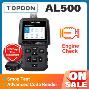 Image 1 - TOPDON AL500 מלא OBD2 סורק רכב OBDII כלי אבחון אוטומטי קוד תקלת קורא קוד לקרוא מנוע לבדוק בדיקת ערפיח תור off IML
