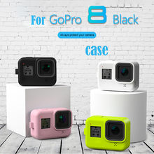 Protective Case for Go Pro Accessories Action Camera Case Protective Silicone Case Skin Cover For GoPro Hero 8 Black Hero Camera(China)
