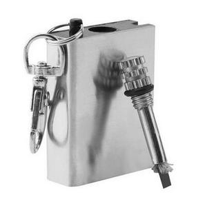 Ultra Mini-tamaño portátil Match Lighte supervivencia Camping impermeable sello anillo Metal caja Striker encendedor herramientas al aire libre
