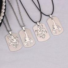 Ожерелье из нержавеющей стали в стиле ретро для мужчин и женщин