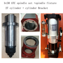1Pcs BT30 Spindel Motor + 1Pcs 2T Air Cilinder + 1Set BT30 Braket/Houder De hele Set Bt30 Cnc Frezen Spindel Motor