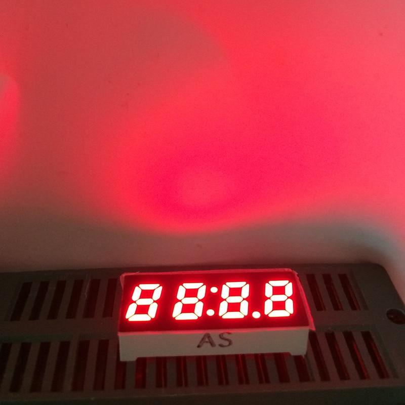 5pcs 0.25inch 7Segment 4-bits Clock LED Display Timer RED 4 Digital Numbers LED Signs Display Cube Clock LED Displays Cathode
