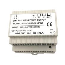 цена Din Rail 12V 3A Switching Power Supply with UPS charging онлайн в 2017 году