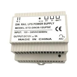 Szyna Din 12V 3A zasilacz impulsowy z ładowaniem UPS w Akcesoria do telewizji przemysłowej od Bezpieczeństwo i ochrona na