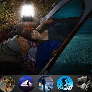 Image 5 - Multifunction LED Camping Lantern USB Rechargeable power bank Flashlight Lantern torch for Hurricane Emergency, Hiking, Fishing