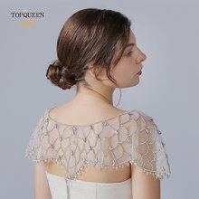 Свадебное платье болеро с вуалью topqueen g14 атласное Болеро