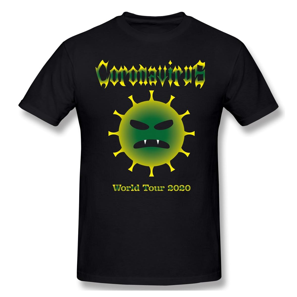 World Tour 2020 Premium T Shirts Summer Short Sleeve Cotton Fight Agaist 2019 Pandemic T-Shirt