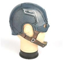лучшая цена Cosplay Steven Rogers Mask PVC Man Adult Halloween Party Prop Cos Movie Superhero Civil War Captain America PU Helmet Mask