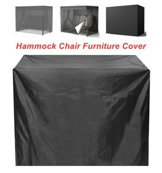 Waterproof Hammock Swing Cover Waterproof Dustproof Anti-UV Protective Cover for Patio Garden 3 Seat Swing Chair