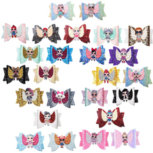LOL Surprise Dolls Toys Bright Flashing Gradient with Sequins Swallowtail Children's Bow Hair Clip Accessories 2S35