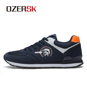 Image 2 - OZERSK 2020 New Causal Breathable Fashion Shoes Classic Flat Male Footwear Comfort Men Shoes Leisure Walking Shoes Mens Sneaker