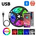 Светодиодная лента USB 5050 Rgb Bluetooth App Управление лента света ТВ фон Гибкая лампа диодной подсветкой для настенное украшение для комнаты 5V