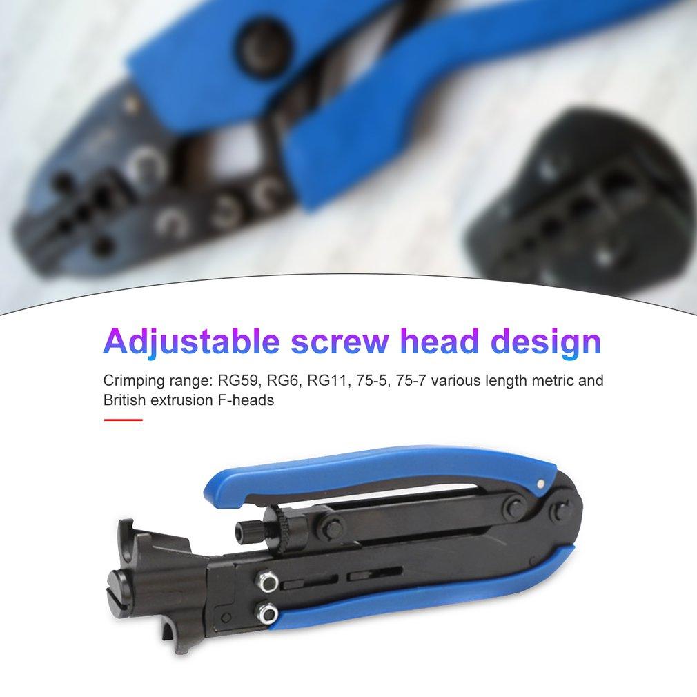 Compression Tool F RG59 RG6 RG11 Cable Wire Coax Coaxial Crimper Stripper Pliers