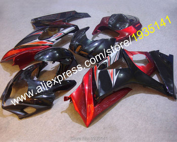Red black kit For Suzuki GSX-R1000 K7 07 08 GSXR1000 GSX R1000 GSXR 2007 2008 body Fairing of Moto (Injection molding)