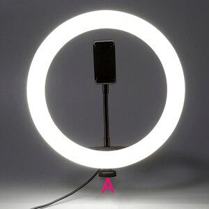 Youtube Shooting Tiktok Selfie Circular Photo Ring Light Led Photographic Video Camera Lamp Studio Lighting Phone Holder