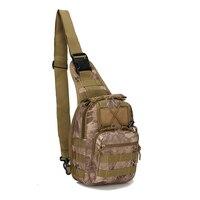 600D wodoodporna Oxford taktyczna torba na klatkę piersiowa Molle Military Airsoft Crossbody torba na zewnątrz polowanie Camping skrzynia torba na ramię w Torby wspinaczkowe od Sport i rozrywka na