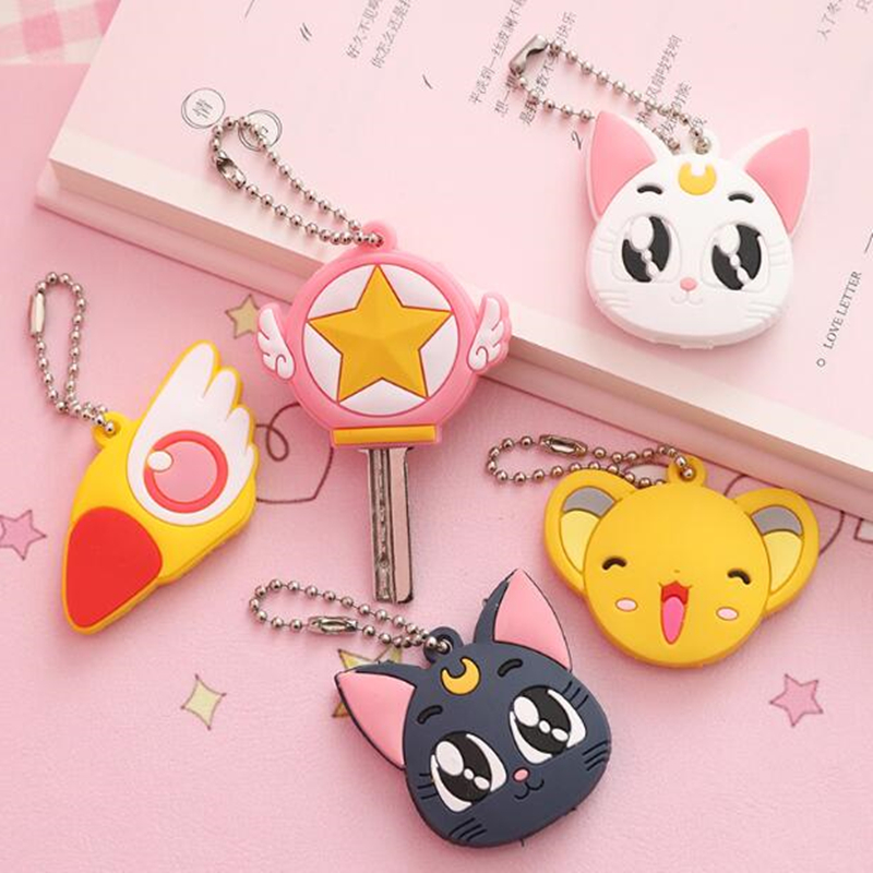 Key-Cover Badge-Card Maid Captor Cosplay Anime Sailor-Moon Sakura Luna Cartoon Cute Gift