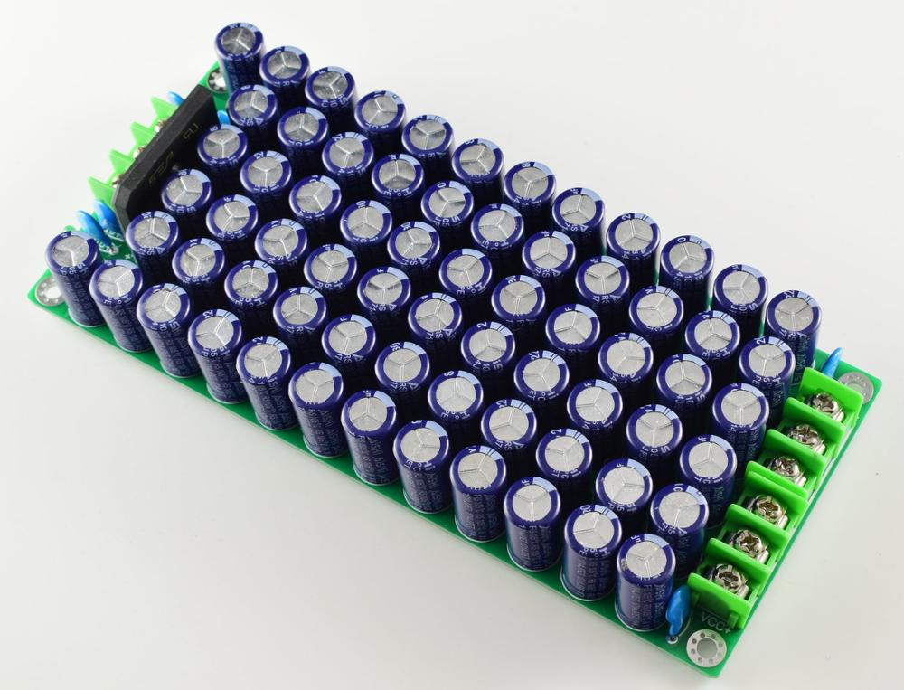 New 220uf 80V 64pcs Low Impedance Amplifier Power Supply Array Board Kit PSU Rectifier Filter Board Kit