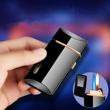 Двухпламенная струйная газовая зажигалка шлифовальный фонарь