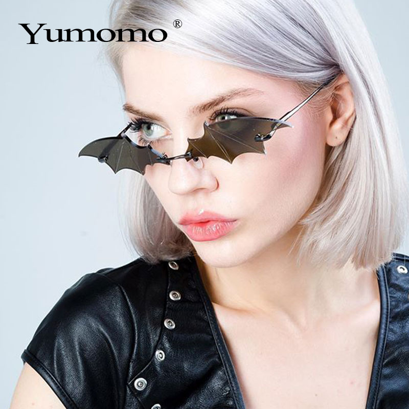 Steampunk Vintage Sunglasses Women Mirror Retro Rimless Sunglasses Men Frameless Trend Fashion Retro Small Sunglasses Eyewear