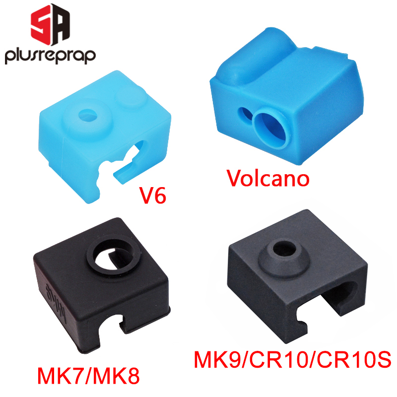 3D Printer Parts Silicone Sock for V6 Volcano MK8-MK9-CR10-CR10S Heated Block Warm Keeping Cover