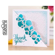 Die Cut Scrapbooking Paper Carbon Steel Embossed DIY Craft Handmade Card Punch Art Circle Lace Decorative Stencil Bubble Lace diy embossed carbon steel cutting die
