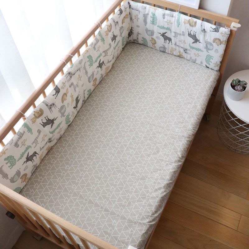 Nordic Baby Bed Bumpers For Newborns Thicken Star Crib Protector Cotton Infant Cot Around Cushion Room Decor For Boy Girl 1Pcs