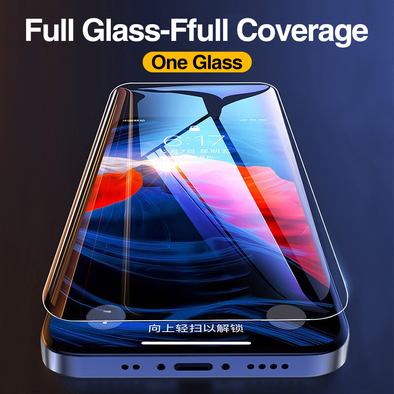 4Pcs Full Cover Tempered Glass For iPhone 11 Pro X XR XS MAX 12 Pro Max Mini Screen Protector For iPhone 6 7 8 Plus Glass film 5