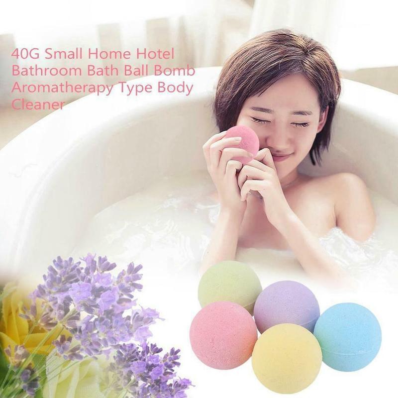 5 PCS Small Size Home Hotel Bathroom Bath Ball Bomb Aromatherapy Type Body Cleaner Handmade Bath Salt Bombs Color Random