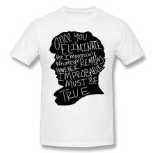 Sherlock T-Shirts for Men Impossible Funny Crewnec