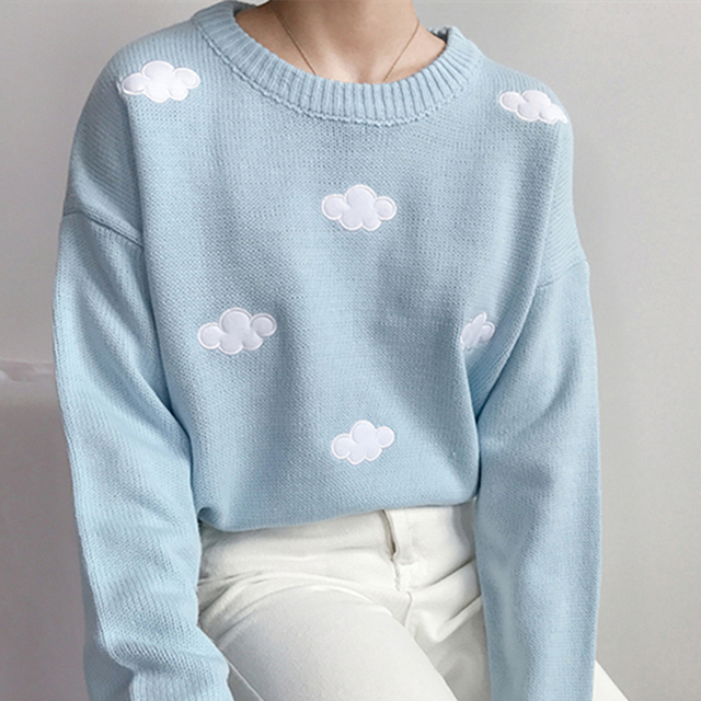 Ailegogo New 2020 Fall Winter Women Sweaters Knitted Stylish Pullovers Minimalist Loose Casual Wild Jumpers SW201 1