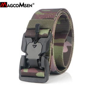 Image 4 - MAGCOMSEN Nylon Tactical Belts Men Multicam Military Heavy Duty Quick Release Belts Waistbands Army Airsoft Gears Paintball