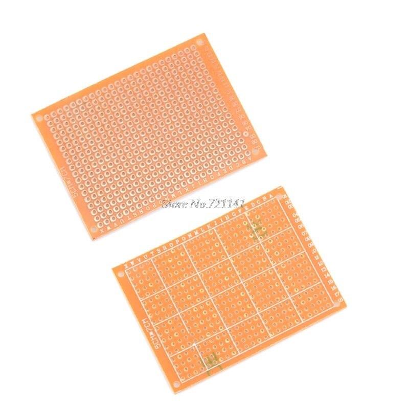 10 шт. DIY бумажный прототип; универсальный PCB Эксперимент Матрица печатной платы односторонняя панель 5x7 см оптовая продажа и Прямая поставка