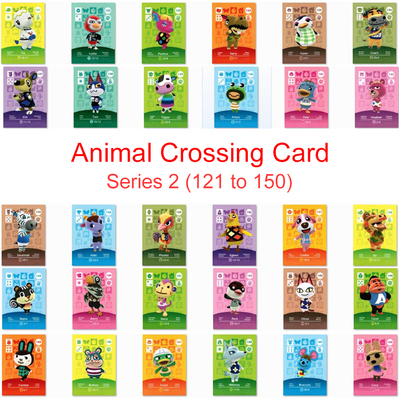 Series 2 (121 To 150) Animal Crossing Card Amiibo Card Work For NS Game Switch New Horizons Whitney Coco Villager Amibo Card