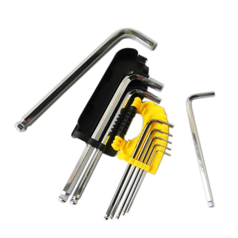 BOSI 1,5-10mm 9tk pikkune kuuskantvõtmega mutrivõtme - Käsitööriistad - Foto 4