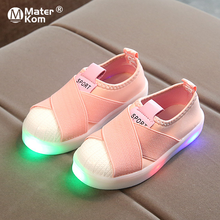 Size 21-30 Kids Shoes Luminous Sneakers for Boys Girls Glowi