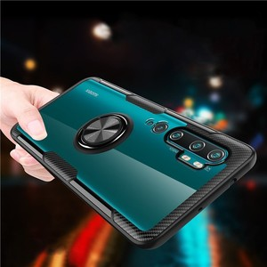 Magnetic Armor Case For Xiaomi Mi Note 10 CC9 PRO 9T A3 Lite Stand Holder Car Ring Clear Cover For Redmi Note 7 8 8T 9 S K20 K30(China)