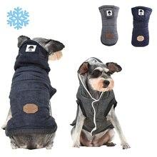 Флисовые Толстовки для собак, пальто для зимы, теплые рубашки для собак, рубашки для собак, одежда для домашних животных, одежда для маленьких, средних и больших собак