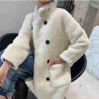 2020 Winter Women's Fur Coat Korean Long Faux Fur Jacket Loose Overcoat Furry Coat Manteau Fourrure Femme 1668 KJ3608