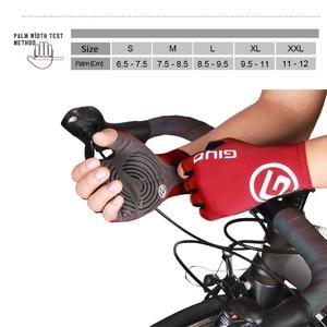Image 5 - Giyo brise vent cyclisme demi doigt gants anti dérapant vélo moufles course route vélo gant vtt Biciclet Guantes Ciclismo